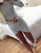 sukienko tunika asymetryczna paski