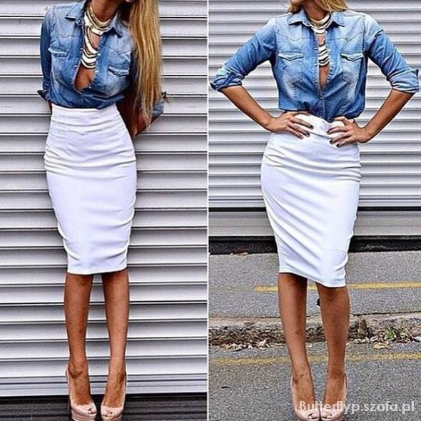 Spódniczka long i jeansik