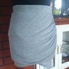 drapowana dresowa spódniczka zara