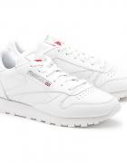 Reebok classic lether white białe sportowe adidasy