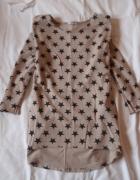 Bluza w gwiazdki dłuższy tył 42 44 lub oversize