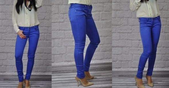 Spodnie MISS RJ rurki chabrowe kobaltowe XS do XL