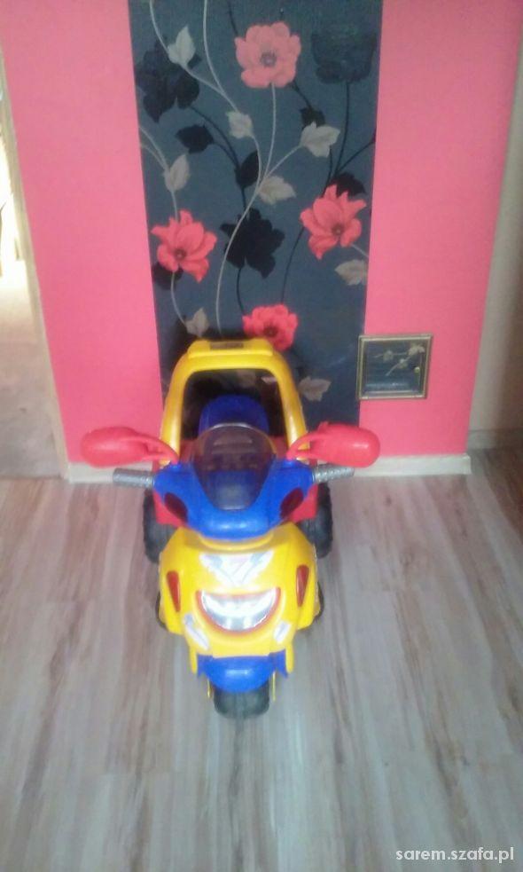 Zabawki Elektryczny motorek samochodzik na 3 kołach na aku