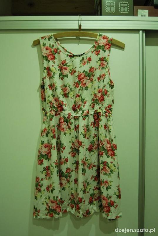śliczna sukienka rozmiar 38 floral