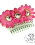 Grzebień kwiaty z oczami