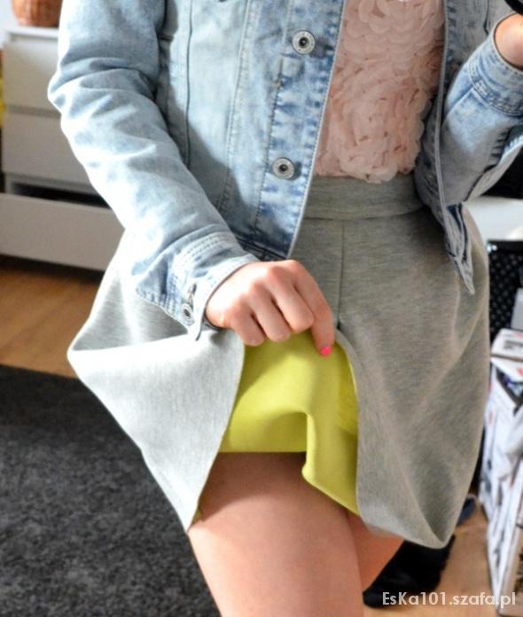 Spódnice Spódnica z koła dres Zip