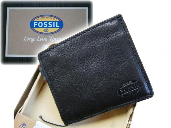 de4a857b7a852 FOSSIL portfel męski czarny skórzany NOWY w Portfele - Szafa.pl