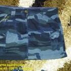 Granatowo czarna spódniczka moro George