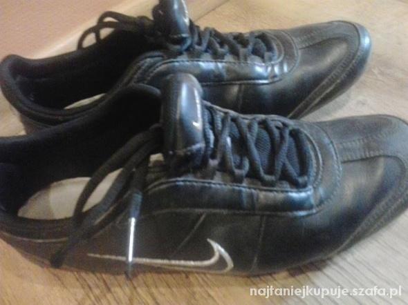 Buty Nike Czarne Skóra .pl