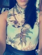 Koszula mgiełka hawajka