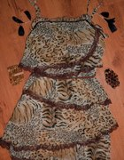 sukienka panterka NOWA warta 69 euro M
