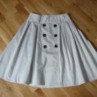 Beżowa rozkloszowana spódnica ZARA