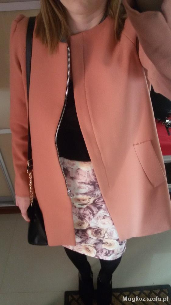 Mój styl płaszcz z bufkami Zara