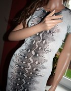 sukienka monnari wzór wężowy