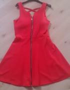 Sukienka nowa czerwona suwak