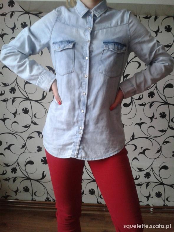 Koszula jeansowa na zapinanie Pull&Bear