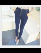 spodnie na guziki japan style wysoki stan...