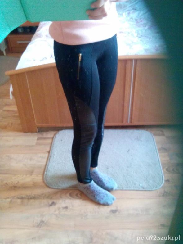 Legginsy tregginsy legginsy wstawki skorka