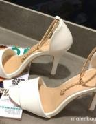 Białe szpilki sandały...