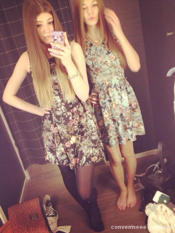 Ubrania sukienka rokloszowana floral kwiaty