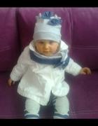 Dla córeczki biały płaszczyk Reservede