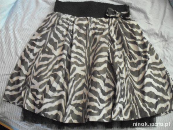 Spódnice czarno szara spódnica z tiulową halką river island
