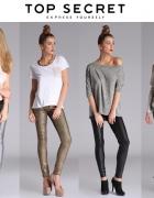 spodnie metaliczne...