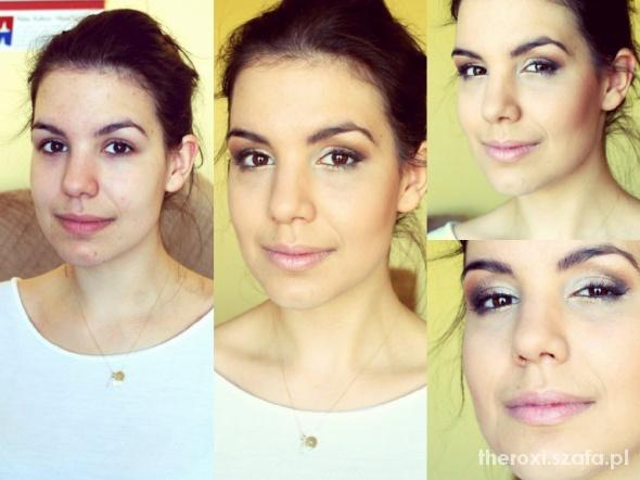 makijaż w złocie...