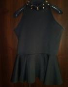 czarna baskinka z kolcami