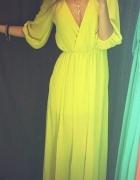 Piękna limonkowa sukienka maxi