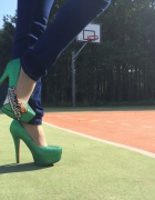 basketball high heels