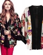kimona w kwiaty