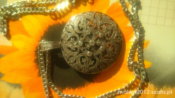 Duża srebrna stara zawieszka wisiorek