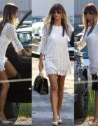 Koronkowa biała sukienka 38 M