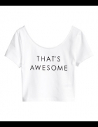 crop top h&m thats awesome koszulka...