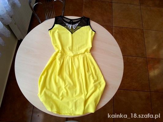 Cytrynowa sukienka L