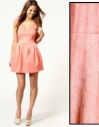 lososiowa rozkloszowana sukienka