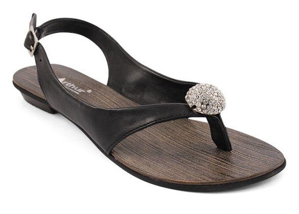 NOWE McArthur skórzane sandałki z kryształkami
