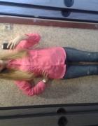 Boyfriendy Zara różowa koszula mgiełka