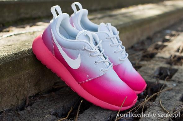 Nike roshe run, różowe ombre