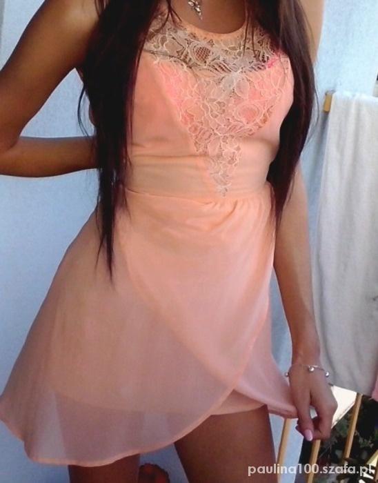sukienka morelowa