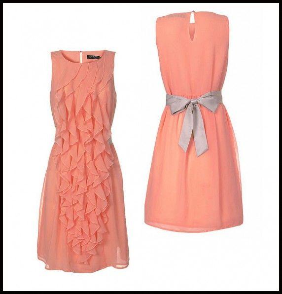 piękna łososiowa sukienka Top Secret w Suknie i sukienki