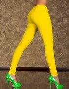 NOWE Śliczne żółte spodnieZAMEK Z TYŁUWys GRATIS