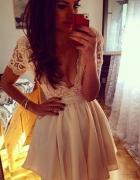 missguided asos sukienka koronkowa tiul sx 34