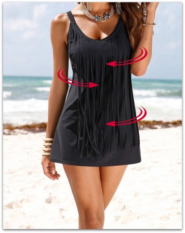 97ddfc0dd2cddb Strój kąpielowy sukienka kąpielowa Roz 44 XXL w Stroje kąpielowe ...