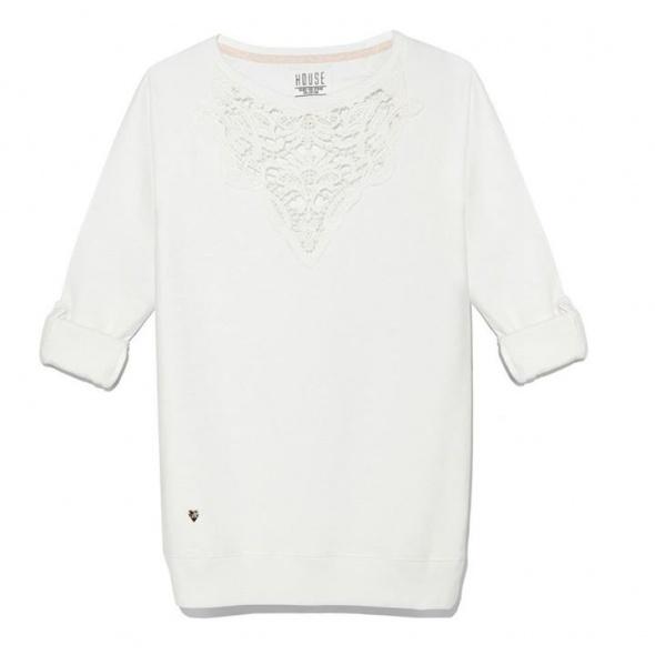 Ubrania Biała bluza koronka house rozmiar M