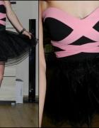 bluzka gorsetowa i tiulowa spódniczka