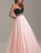 CLASSY LONG BLACK TAILOR MADE EVENING PROM DRESS...