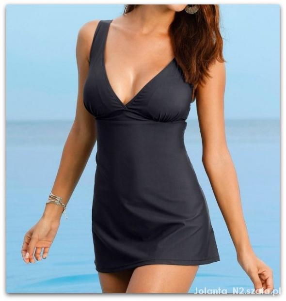 c75c40b5296778 42 XL Strój kąpielowy sukienka kąpielowa czarny w Stroje kąpielowe ...