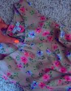 TALIOWANA sukienka NEON kwiatki NOWA New Look